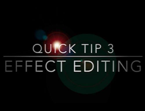 Effect Editing – Basics