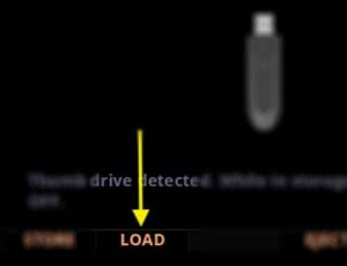 Loading User Data (Back Up)